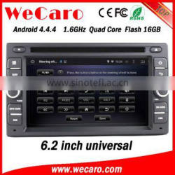 "Wecaro 6.2"" WC-2U6008 Android 4.4.4 car dvd player quad core car radio navigation system stereo tv tuner"