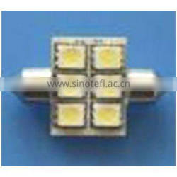 T10*31mm 6SMD 5050 3chip Car LED Light