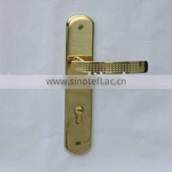 Solid Stainless Steel Lever type Door Handle with Plate