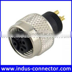 Equivalent to binder m12 5 poles high quality female sensor round connector for satellite