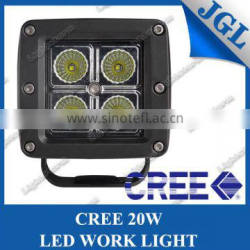 "3"" Bar Spot LED in Black Housing square 4 leds dual row cree 5 watt led work light bar for off road jeep suv atv"