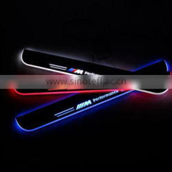 car welcome LED Moving Door scuff sill plate light for E46