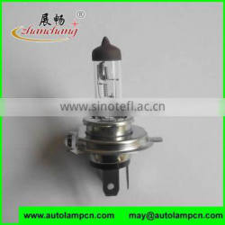 P43t HIGH QUALITY H4 auto halogen bulb CLEAR COLOR Stainless iron base