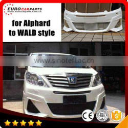 Alphard body kits fit for TOYO Alphard to WD style 2011year up