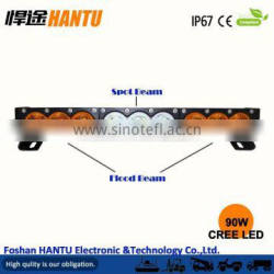 New product Amber white color 90w Amber led light bar/ waterproof 10W chip/MODEL:HT-2490