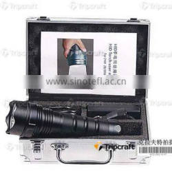 Super bright flash light, 35W HID flash light with strap,4400mAh Battery /3200lm rechargable flash light outdoor light