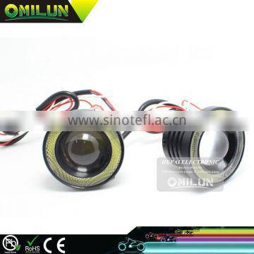 Universal COB LED FOG Light with cob angel eyes for all cars