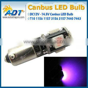 Canbus Error Free White 5-SMD LED H21W 64111 BA9S Parking Light Lamps #95