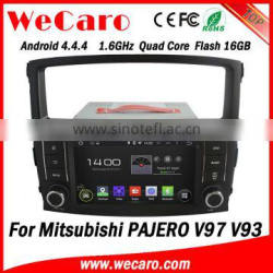 """Wecaro 7"""" Android 4.4.4 multimedia system double din for mitsubishi pajero gps navigation system audio player 2006 -2011"""
