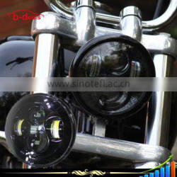 "7"" LED Projection Head Lamp Chrome like DAYMAKER HID HEADLIGHT JW FOR HARLEY"