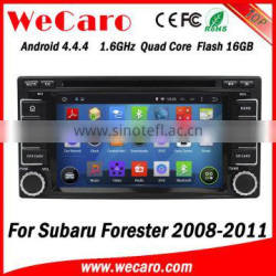 Wecaro Android 4.4.4 WC-SU7068 wifi 3g touch screen car audio player for subaru forester car dvd gps 2 din 2008 2009 2010 2011