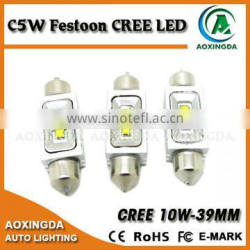 CRE E XBD 10W C5W 39mm LED number plate light