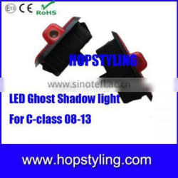 LED courtesy welcome ghost shadow door logo laser projector light for C class car light accessory
