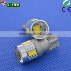 High Power Led Car Light/High Quality T10 5W Car Led Auto Bulb with lens