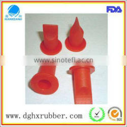 Red liquid nitrogen silicone valve for actuator system