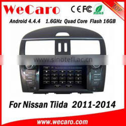Wecaro WC-NT8078 Android 4.4.4 car dvd player touch screen for nissan tiida car audio WIFI 3G mirror link 2011-2014