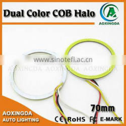 70mm COB switchback turn signal halo light