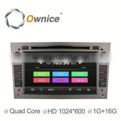 Ownice C300 Android 4.4 quad core car dvd for Opel Astra Antara Vectra Zafira support Ipod Iphone