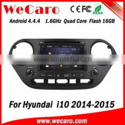 Wecaro WC-HI8071 Android 4.4.4 car stereo 2 din touch screen car radio gps for hyundai i10 car dvd stereo mirror link 2014 2015