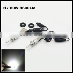 Super Bright R3 9600lm H7 Xenon White 6000K Car LED Headlight Conversion Lamp Kit XHP-50 9600lm Bulb