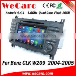 Wecaro WC-MB7508 Android 4.4.4 navigation system touch screen for mercedes clk w209 car dvd gps 2004 2005 mirror link