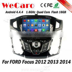 Wecaro WC-FF7305 Android 4.4.4 car dvd 1080p for ford focus touch screen 2012 2013 2014 TV tuner