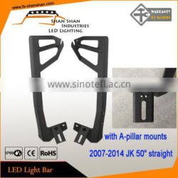 "Jeep Wrangler JK (07-15) Upper Windshield Mount for 50"" LED Light Bar with Pod Mount [Pair]"