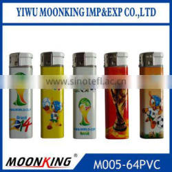 rechargeabe plastic cigarette lighter cheapest electronic lighter with world cup pictures