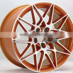 yellow machined face 5x114.3 alloy rims