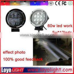 "Auto parts led driving light 7"" 60W Offraod LED work light for trucks"