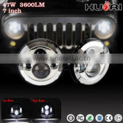 Wholesale price 7'' led auto headlight car h4 led headlight bulbs led headlight for J eep Wrangler Harley motorcycle