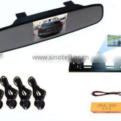 "rear view mirror with 3.5""monitor and backup camera ,super thin mirror"