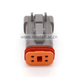 4 Way Female DT Connector With Reduced Diameter Seal And End Cap DT06-4S-CE01