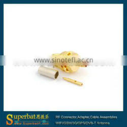 RP-SMA Crimp Jack(male pin) connector for LMR100 female connector