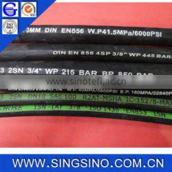 High Quality Steel Wire Braided Hydraulic Pvc Mixed with Rubber Hose