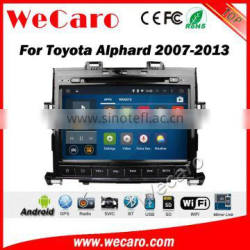 Wecaro WC-TA9005 android 5.1.1 dvd player for toyota alphard 2007-2013 car audio WIFI 3G Playstore steering wheel control