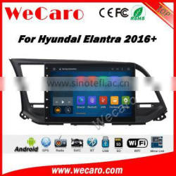 Wecaro WC-HE1062 10.2 inch android 4.4/5.1 car dvd for hyundai elantra 2016 touch screen dvd gps With Wifi and 3G GPS Radio RDS