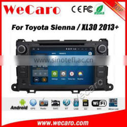 Wecaro WC-TS8023 android 5.1.1 car navigation system for toyota sienna /xl30 2013 + car dvd gps radio stereo WIFI 3G Playstore Quality Choice