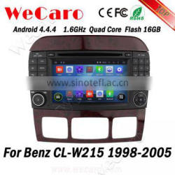 Wecaro WC-MB7509 Android 4.4.4 car dvd player 1024*600 for Benz CL-W215 android 1998 - 2005 bluetooth