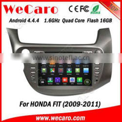 Wecaro high quality newest system android 4.4.4 car dvd gps for honda fit OBD2 Playstore 2009 2010 2011