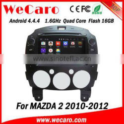 Wecaro WC-MZ8002 android 4.4.4 2 din car dvd gps for mazda 2 2010 2011 2012 3G wifi playstore
