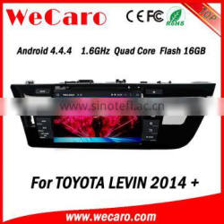 Wecaro Android 4.4.4 car multimedia system in dash for toyota levin car radio radio gps playstore 2014 2015