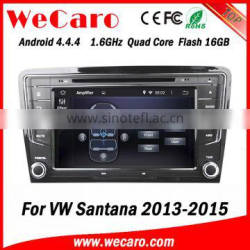 Wecaro WC-VU8007 Android 4.4.4 car multimedia system double din for vw Santana 2013 car radio gps audio system tv tuner