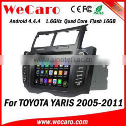 Wecaro WC-TY6221 Android 4.4.4 car dvd player quad core for toyota yaris android car dvd stereo tv tuner 2005 -2011