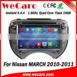 Wecaro WC-NM7043 Android 4.4.4 multimedia system quad core for nissan march car dvd player audio system bluetooth