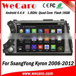 "Wecaro WC-SY7020 7"" Android 4.4.4 WIFI 3G touch screen car dvd player for ssangyong kyron dvd radio gps navigation 2006 - 2012"