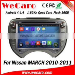 Wecaro WC-NM7043 Android 4.4.4 multimedia system touch screen for nissan march car dvd WIFI 3G mirror link