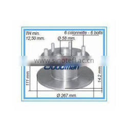 Iveco automotive brake disc 1904529 from Nanjing Auto spare parts