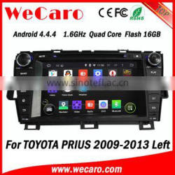 Wecaro WC-TP8004L Android 4.4.4 car stereo double din touch screen car dvd for toyota prius radio gps bluetooth 2009-2013