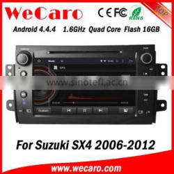 Wecaro WC-SS8081 Android 4.4.4 car dvd player quad core car audio system for suzuki sx4 stereo playstore 2006 - 2012